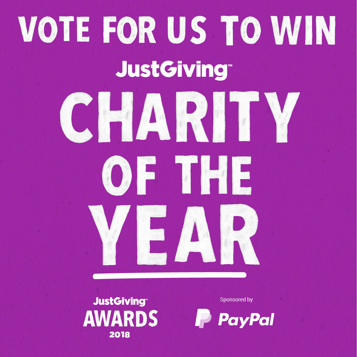 Vote R2r For Justgiving S Charity Of The Year Room To Reward